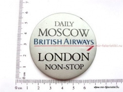 ЗНАК DAILY MOSCOW BRITISH AIRWAYS LONDON NON-STOP
